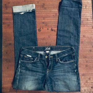 Lucky Brand Zoe Straight Jeans SZ 28/6 Current